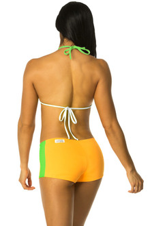 Sunny Model Outfit - FINAL SALE - FLORESCENT LIME AND WHITE ACCENT ON MELON - MEDIUM/LARGE (1 AVAILABLE)