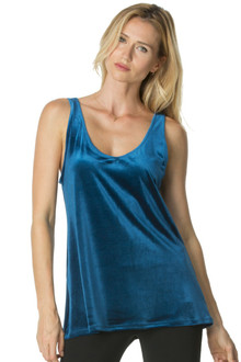Stretch Velvet Loose Tank