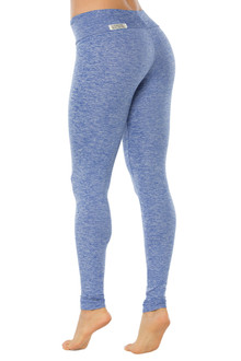 "Butter Blue Sport Band Leggings - FINAL SALE - XS - 28"" INSEAM (1 AVAILABLE)"