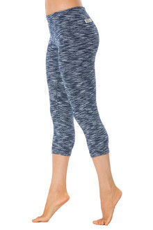 Navy Water Sport Band 3/4 Leggings - FINAL SALE - XS, S, M & L