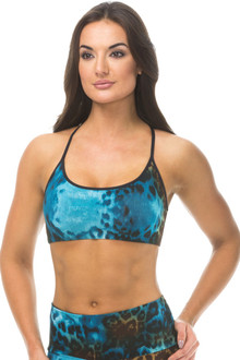 Print Mademoiselle Bra With Piping