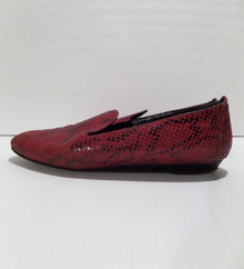 Fashion Show Shoes - FINAL SALE - DIVERTENTE RED AND BLACK SNAKE PRINT LOAFERS - SIZE 7 (1 AVAILABLE)