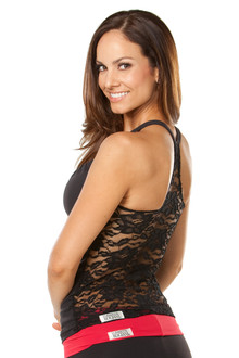 Lace Metro Top - FINAL SALE - BLACK - MEDIUM