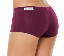 "Lowrise Mini Shorts - EGGPLANT -  FINAL SALE - MEDIUM - 2.75"" INSEAM"