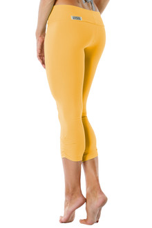 Sport Band Side Gather 3/4 Leggings - FINAL SALE - GINGER - XS & L