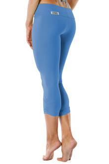 Sport Band Side Gather 3/4 Leggings