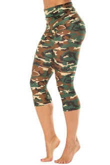 Camouflage Rolldown 3/4 Leggings
