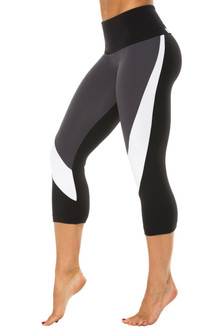 Chrome High Waist 3/4 Leggings