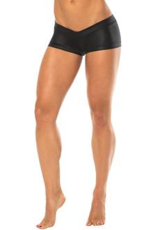 Wet Lowrise Mini Shorts