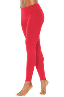 Sport Band Leggings - FINAL SALE - VEGAS RED - XSMALL (1 AVAILABLE)