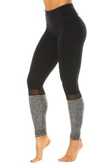 Salia High Waist Supplex/Mesh/Butter Leggings - FINAL SALE - BLACK/BLACK MESH/BUTTER BLACK - MEDIUM (1 AVAILABLE)