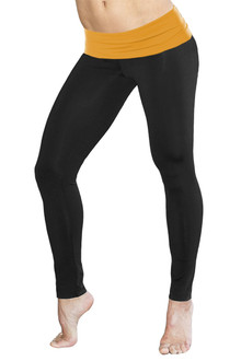 Rolldown Leggings - GINGER ON BLACK - FINAL SALE - MEDIUM (1 AVAILABLE)