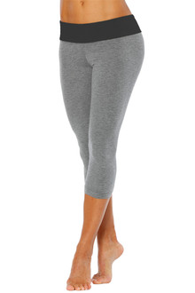 Cotton Sport Band 3/4 Leggings