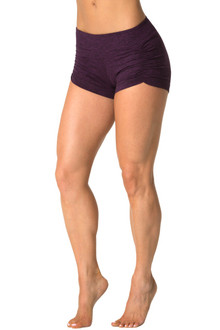Double Weight Butter Kala Gather Front Mini Band Shorts