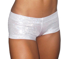 Lowrise Mini Shorts - Sparkle Silver - SALE