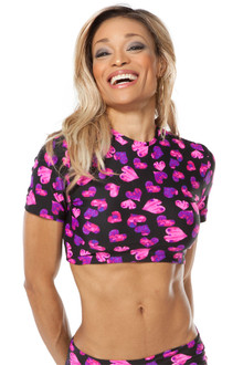 Alicia Marie - Heart Crop Top- dual