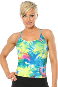 Color-foria Elba Top w/ mesh back