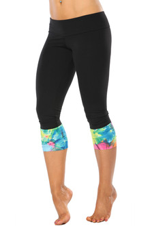 Color-foria Sport Band Modella Long Cuff 3/4 Leggings