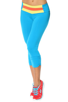 Paulina Band Side Gather 3/4 Leggings