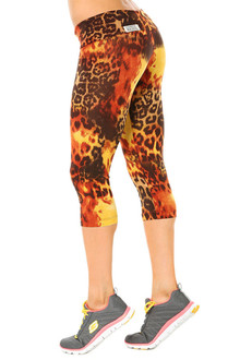 Tiger Rust Sport Band 3/4 Leggings - FINAL SALE - XS, S, M, & L