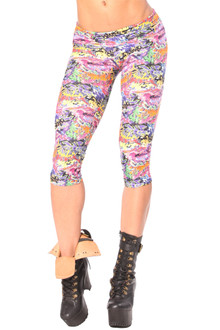Alicia Marie - Graffiti Sport Band 3/4 Leggings