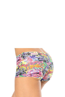 Alicia Marie - Graffiti Lowrise Mini Shorts