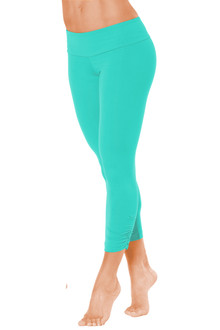 Sport Band Side Gather 3/4 Leggings -ICE-SALE