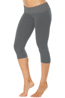 Rolldown 3/4 Leggings - SALE - XS- METAL ON METAL