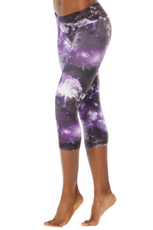 JNL - Purple Star Sport Band 3/4 Leggings