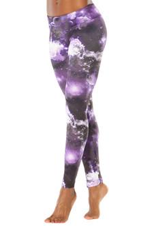 JNL - Purple Star Sport Band Leggings - FINAL SALE - XS, S, M, & L