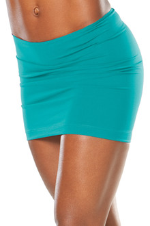 "Transformable Skirt - TEAL - SALE - MEDIUM - Front 13.5"", Back 14.5"""