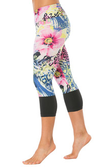 Flower Sport Band Modella Long Cuff 3/4 Leggings