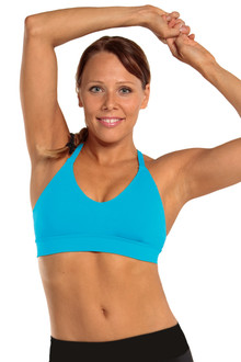 Racer Doll Bra - BRIGHT TURQUOISE - FINAL SALE - SMALL (1 AVAILABLE)