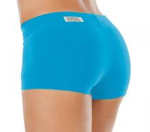 "Lowrise Regular Shorts - BRIGHT TURQOISE - SALE - XSMALL - 1.5"" INSEAM - 6.5"" SIDES"