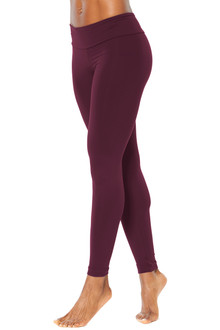 Sport Band Leggings - BURGUNDY - SALE - XSMALL (1 AVAILABLE)