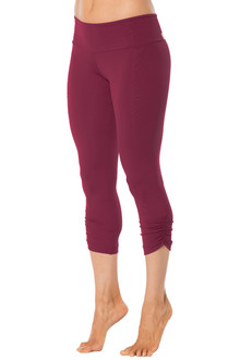 Sport Band Side Gather 3/4 Leggings - READY