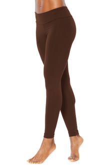 Sport Band Leggings - CHOCOLATE - FINAL SALE - XS