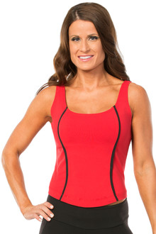 Black on Vegas Red Arabella Top - FINAL SALE - M & L