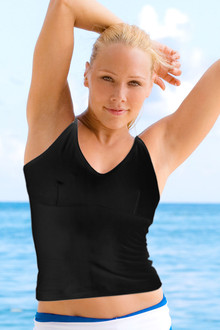 Yoga Top - BLACK - FINAL SALE - LARGE (1 AVAILABLE)
