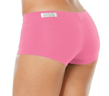 "Lowrise Mini Shorts - CANDY PINK - FINAL SALE - SMALL - 2"" INSEAM - 6.5"" SIDES (1 AVAILABLE)"
