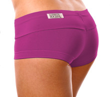 "Kiss Shorts - ORCHID ON ORCHID - FINAL SALE - XSMALL - INSEAM 1.5"" - SIDES 6"" (1 AVAILABLE)"