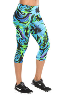JNL - Hurricane Blue 3/4 Leggings