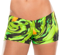 JNL - Hurricane Green Mini Shorts