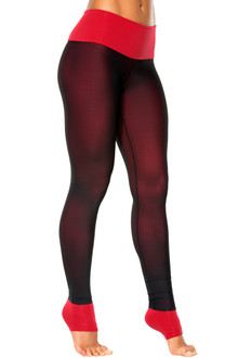 High Waist Layered Mesh Leggings