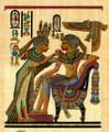 Tutankhamun And His Beautiful Wife Papyrus