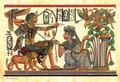 Tutankhamon hunting birds Papyrus