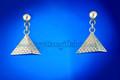 Egyptian Pyramid Silver Earrings