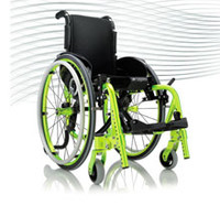 Progeo Exelle Junior. By focussing on innovative design as well as adjustable posture settings (to allow for the child's growth) Exelle junior redefines the children's active lightweight wheelchair category