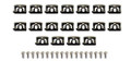 Clip Kit Rear Window Molding 68-69 Barracuda Coupe