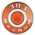 Air Cleaner Pie Tin 69-71 Orange 383  Magnum